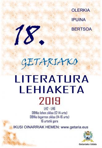 18. GETARIAKO LITERATURA LEHIAKETA