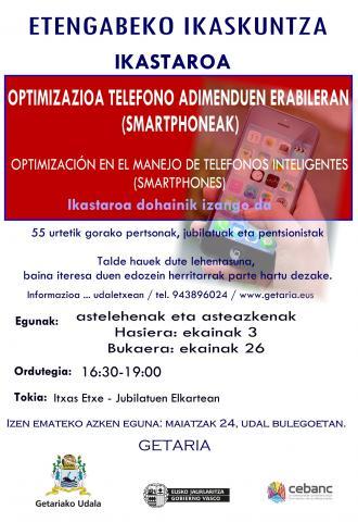 IKASTAROA: OPTIMIZAZIOA TELEFONO ADIMENDUEN ERABILERAN (SMARTPHONEAK)