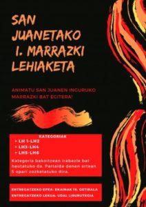 SAN JUANETAKO I. MARRAZKI LEHIAKETA