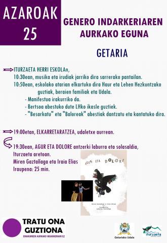AZAROAK 25: GENERO INDARKERIAREN AURKAKO EGUNA