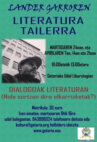 LITERATURA TAILERRA, LANDER GARRO IDAZLEAREKIN